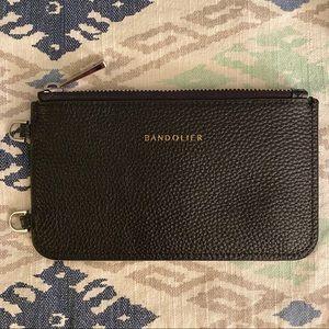 NWOT Bandolier black pebble leather pouch